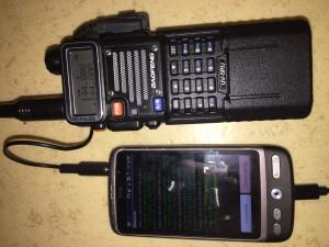 Min radio och telefon.
